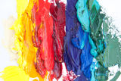 Fermez-vous d'une peinture à l'huile abstraite Images libres de droits