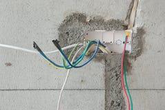 Fermez-vous d'une prise non finie de câble électrique Images stock