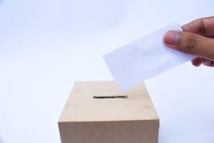 Fermez-vous d'une urne et d'un vote prépondérant Photo libre de droits