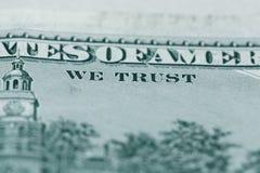 Fermez-vous de 100 billet d'un dollar dans la devise des USA Photographie stock