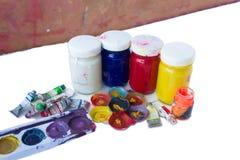 Fermez-vous de couleurs d'affiche colorées avec le foyer sélectif Photographie stock libre de droits