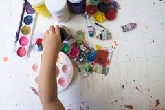 Fermez-vous de couleurs d'affiche colorées avec le foyer sélectif Images stock