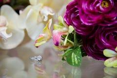 Fermez-vous de Diamond Wedding Ring Images stock