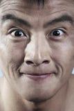 Fermez-vous de jeune équipe le sourire de visage Photo stock