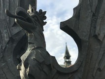 Fermez-vous de Jozef Pilsudski Monument photo stock