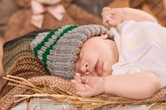 Fermez-vous de l'enfant de sommeil Images stock