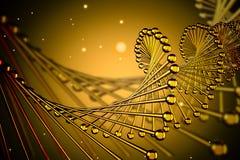Fermez-vous de l'hélice jaune d'ADN illustration de vecteur