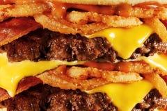 Fermez-vous de l'hamburger photographie stock libre de droits
