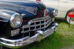 Fermez-vous de l'image courante automobile du vintage GAZ-12 (ZIM) Photographie stock libre de droits