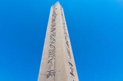Fermez-vous de l'obelisque égyptien de Theodosius Istanbul, Turquie Images libres de droits