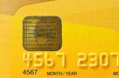 Fermez-vous de la carte de crédit d'or Images stock