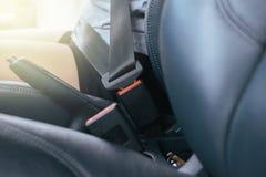 Fermez-vous de la ceinture de sécurité Photographie stock libre de droits