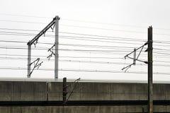 Fermez-vous de la construction ferroviaire Photo libre de droits