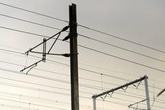 Fermez-vous de la construction ferroviaire Photographie stock libre de droits