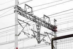 Fermez-vous de la construction ferroviaire Photo stock