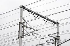 Fermez-vous de la construction ferroviaire Photographie stock