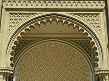 Fermez-vous de la façade du sud du palais de Vorontsov, Alupka, Crimée photographie stock libre de droits
