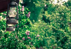 Fermez-vous de la lampe de kérosène Photographie stock libre de droits