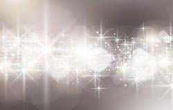 Fermez-vous de la lumière rougeoyante d'étoile photo stock