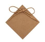 Fermez-vous de la note de carte avec le ruban de papier Image stock
