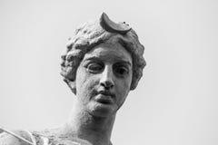 Fermez-vous de la statue de Diana, Siracusa, Sicile, Italie Images stock