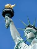 Fermez-vous de la statue de la liberté Image libre de droits