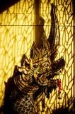 Fermez-vous de la statue dirigée de naga Images libres de droits