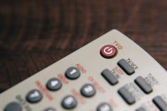 Fermez-vous de la télévision à télécommande Photographie stock