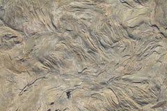 Fermez-vous de la texture complexe de la formation de roche comme fond Images libres de droits
