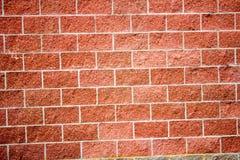 Fermez-vous de la texture détaillée d'un mur de briques rouge Photos stock
