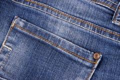 Fermez-vous de la texture de jeans Image libre de droits