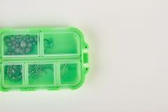 Fermez-vous de pêcher la boîte en plastique Image libre de droits