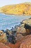 Fermez-vous de stupéfier l'île de Faro, parc national de Mochima, Venezuela, Amérique du Sud Photographie stock libre de droits