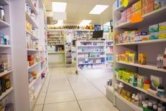 Fermez-vous des étagères des drogues Photo libre de droits