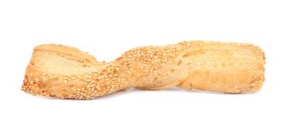 Fermez-vous des bâtons de fromage avec des graines. Photo libre de droits