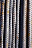 Fermez-vous des barres en métal Image stock