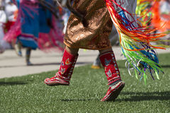 Fermez-vous des chaussures traditionnelles Images libres de droits