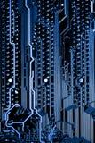 Fermez-vous des circuits électroniques sur le panneau de logique de fond d'ordinateur de technologie de Mainboard, carte mère d'u images stock