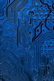 Fermez-vous des circuits électroniques sur le panneau de logique de fond d'ordinateur de technologie de Mainboard, carte mère d'u image libre de droits