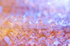 Fermez-vous des cristaux coupés photographie stock libre de droits