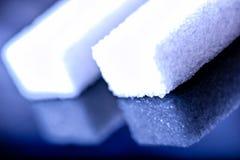 Fermez-vous des cubes en sucre Photographie stock