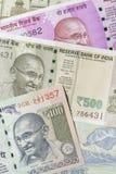 Fermez-vous des devises indiennes tirées dans le studio images libres de droits