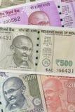 Fermez-vous des devises indiennes tirées dans le studio photographie stock