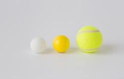 Fermez-vous des différentes boules de sports réglées Photos stock