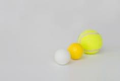Fermez-vous des différentes boules de sports réglées Photo libre de droits