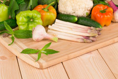 Fermez-vous des légumes Image stock