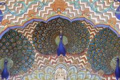 Fermez-vous des paons peints Image libre de droits