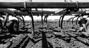 Fermez-vous des pelles de cultivateur Photographie stock