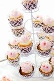 Fermez-vous des petits gâteaux délicieux Images stock