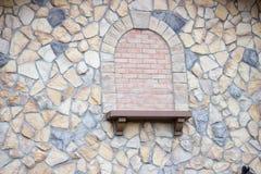 Fermez-vous des pierres colorées sur l'extérieur du bâtiment Photo libre de droits